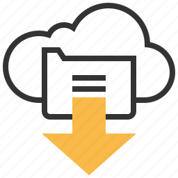 arrow, cloud, data, direction, down, download, storage icon
