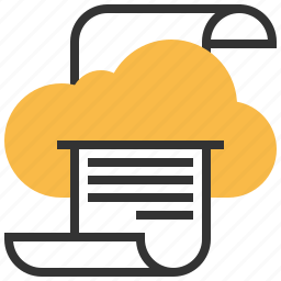cloud, connection, data, internet, printing, storage icon
