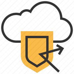 cloud, password, protection, safety, secure, security, shield icon