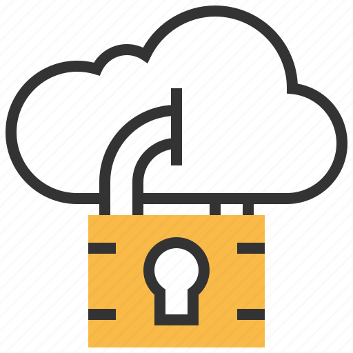 cloud, lock, password, protection, safety, secure, security icon