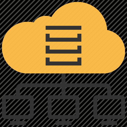 cloud, communication, computing, data, internet, server, storage icon
