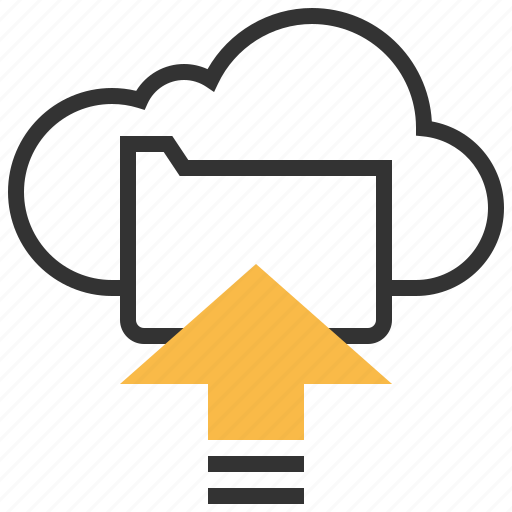 arrow, cloud, data, direction, file, storage, upload icon