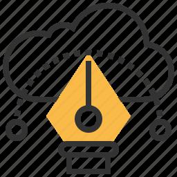 cloud, communication, connection, creative, design, network icon
