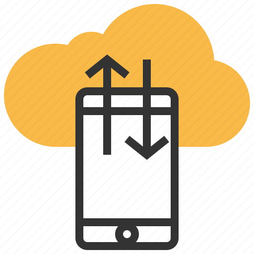 cloud, data, file, mobile, network, smartphone, transfer icon