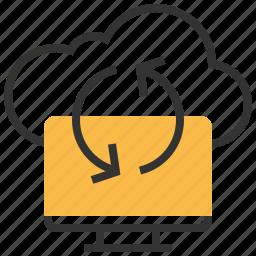 data, exchange, information, storage, sync, synchronize, transfer icon