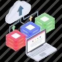 cloud computing, cloud data, cloud data upload, cloud storage, cloud technology icon