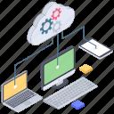 cloud computing network, cloud data, cloud devices, cloud hosting, cloud management, cloud settings, cloud technology icon
