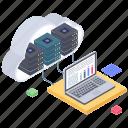 cloud computing, cloud database, cloud hosting, cloud server, cloud storage, cloud technology icon