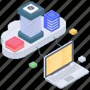 cloud computing, cloud data, cloud storage, cloud technology, data technology icon