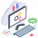 cloud computing, cloud data, cloud data transfer, cloud download, cloud settings, cloud upload icon