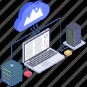 cloud computing, cloud data connection, cloud hosting, cloud network, cloud technology icon