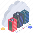 cloud computing, cloud data center, cloud services, cloud storage, cloud technology icon