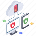 cloud computing, cloud protection, cloud safety, cloud security, secure network icon