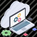 cloud computing, cloud configuration, cloud hosting, cloud management, cloud settings, cloud technology icon