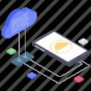 cloud computing, cloud data, cloud data transfer, cloud device, cloud technology icon