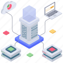 centralized network, data connection, data storage, modern technology, server connection, server network icon