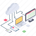 cloud computing, cloud connection, cloud devices, cloud network, cloud services, cloud technology icon