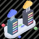 cloud computing, cloud database, cloud hosting, cloud network, cloud storage, cloud technology icon
