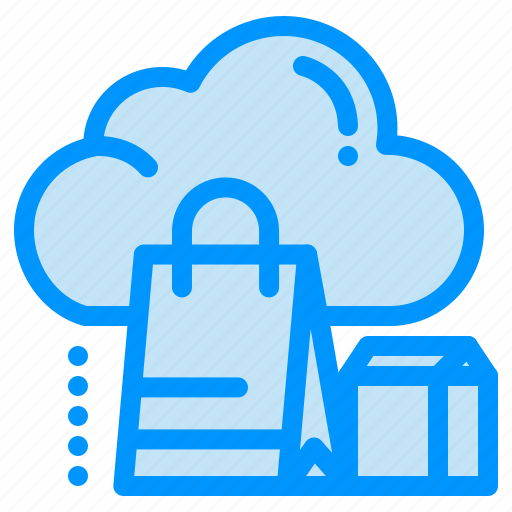 bag, cloud, gift, online, shopping icon