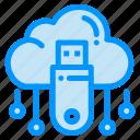 cloud, data, online, store, usb