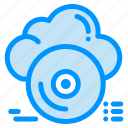 archive, cd, cloud, disc, store icon