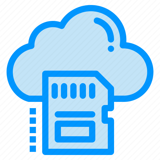 archive, card, cloud, data, sd icon