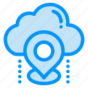 cloud, gps, location, map, pin icon