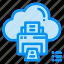 cloud, data, device, print, printer