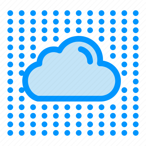 cloud, data, layers, secure, sky icon