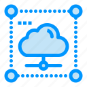 cloud, data, network, secure, share icon