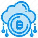 bit, bitcoind, cloud, currency, payment icon