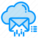 cloud, data, email, mail, message icon