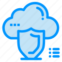 cloud, protection, safety, secure, shield icon