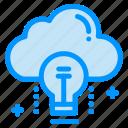 bulb, cloud, data, idea, light icon