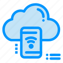 cloud, connected, data, mobile, wifi icon