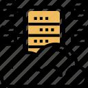 cloud, server, hosting, database, storage