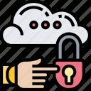 cloud, access, security, locked, key