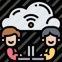cloud, connection, data, storage, network