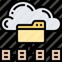 cloud, folder, data, storage, backup