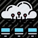cloud, service, data, backup, connection