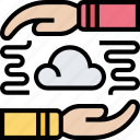 cloud, sharing, network, connection, synchronize