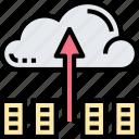 cloud, upload, backup, data, transfer
