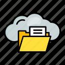 cloud, computing, folder, syncronize icon