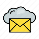 cloud, email, envelope, mail, message