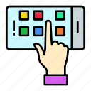 hand, screen, screenmobile, technology, touch icon