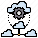 brain, cloud, computing, healthcare, medical, ui icon