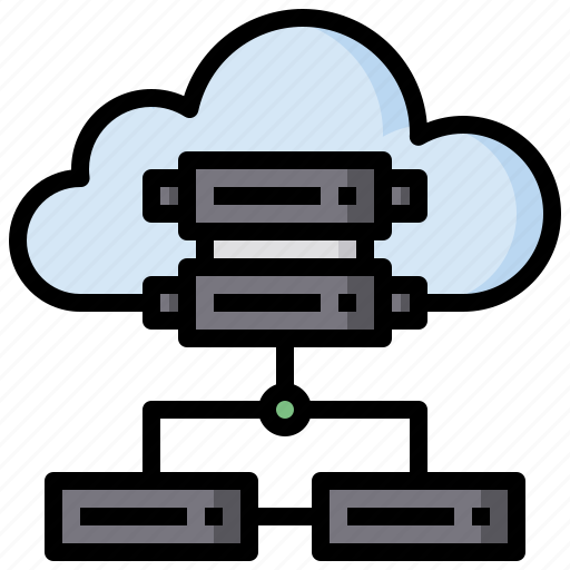 cloud, computer, computing, data, hosting, internet, server icon