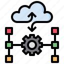cloud, computer, data, document, multimedia, share, sharing icon