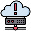 cloud, cloudy, computing, error, sky, weather icon