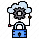 cloud, computing, keyhole, multimedia, option, private, ui icon